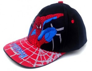topi spiderman hitam