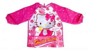 apron Hello Kitty celemek anak motif Hello Kitty