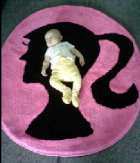 karpet barbie hitam