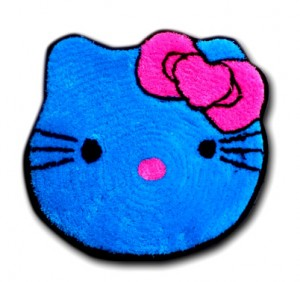 keset kaki hello kitty biru