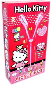 microphone hello kitty