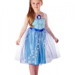 dress frozen elsa tali biru