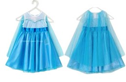 dress frozen tangan pendek