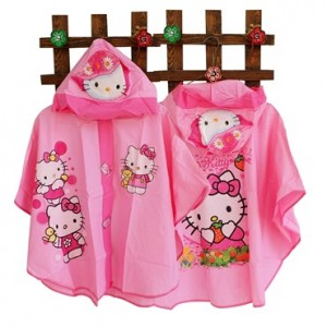 jas hujan kelelawar hello kitty rz