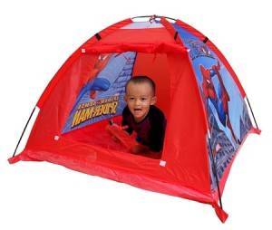 tenda spiderman merah
