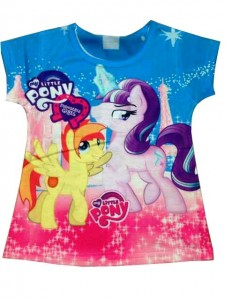 Kaos Little Pony Biru